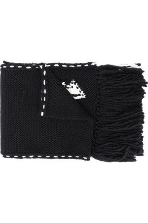 Alexander McQueen Men Scarves - Skull knit frayed edge scarf
