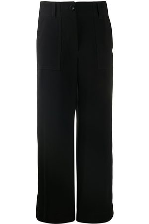 SACAI High-waisted straight leg trousers
