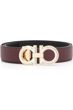 Salvatore Ferragamo Men Belts - Gancini leather belt