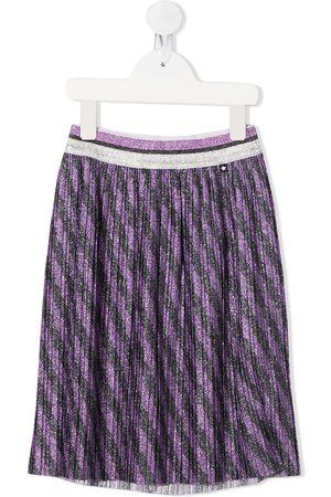 Molo Kids Girls Printed Skirts - Striped-print pleated skirt
