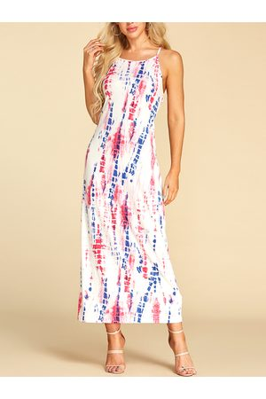 YOINS Backless Design Tie-Dye Sleeveless Dress