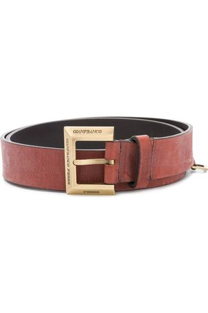 Gianfranco Ferré 2000s logo buckle belt