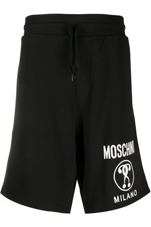 Moschino Double question mark logo track shorts