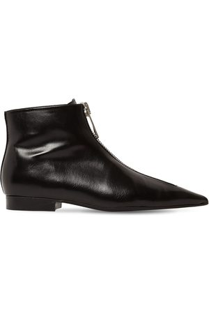 Stella McCartney Women Ankle Boots - 20mm Zipit Faux Leather Ankle Boots