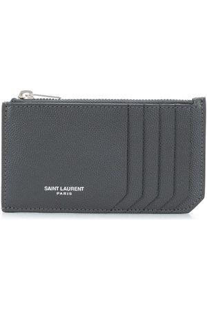 Saint Laurent Zip-fastened leather cardholder