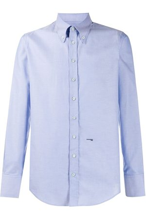 Dsquared2 Men Long Sleeve - Logo-embroidered button-down shirt