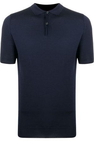 JOHN SMEDLEY Fine knitted polo shirt