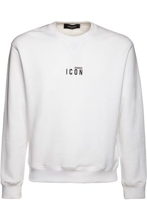Dsquared2 Icon Logo Print Cotton Jersey Sweatshirt
