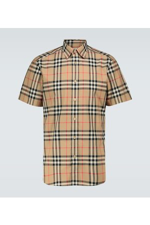 Burberry Caxton checked short-seeved shirt