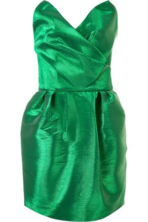 The 2Nd Skin Co. Strapless architectural mini dress