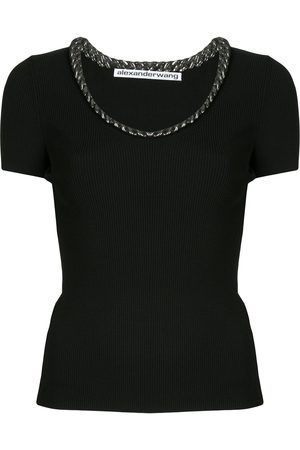 Alexander Wang Trapped chain knitted top