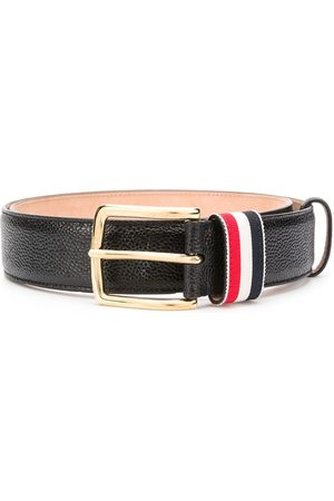 Thom Browne Striped loop pebbled belt