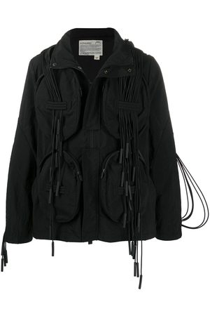A-cold-wall* Chord trim hooded jacket
