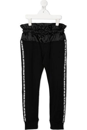 DKNY Logo drawstring track trousers