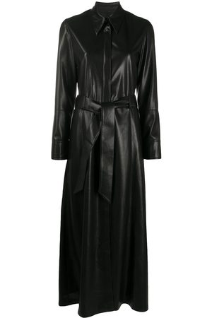 Nanushka Faux long belted dress