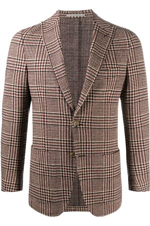 ELEVENTY Check single-breasted fitted blazer