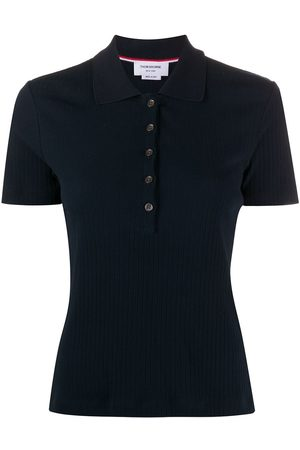 Thom Browne Women Short Sleeve - Short sleeve polo in high twisted rib