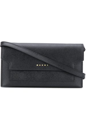 Marni Women Shoulder Bags - Compartments leather crossbody bag