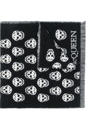 Alexander McQueen Skull intarsia-knit scarf