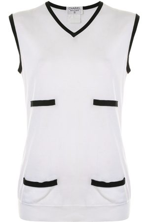 Chanel Pre-Owned Women Tank Tops - 1996 V-neck tank top