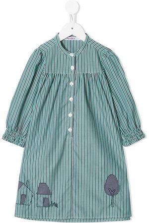 Familiar Girls Casual Dresses - Striped shirt dress