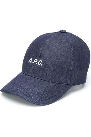 A.P.C Embroidered logo denim cap