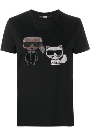 Karl Lagerfeld Short sleeve rhinestone embellished T-shirt