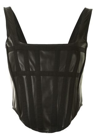DION LEE Cropped panelled corset