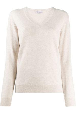 Brunello Cucinelli Women Long Sleeve - Long-sleeve fitted jumper