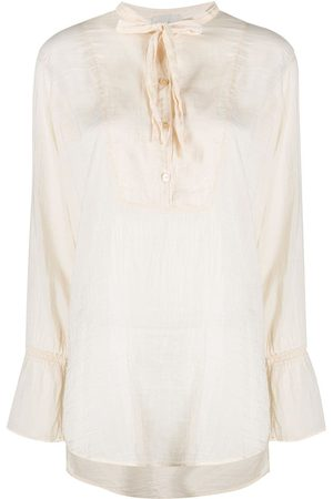 FORTE FORTE Relaxed neck-tied blouse