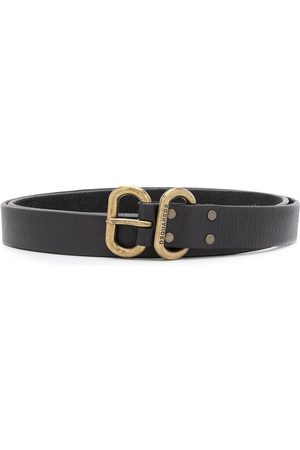 Dsquared2 Double-buckle slim belt