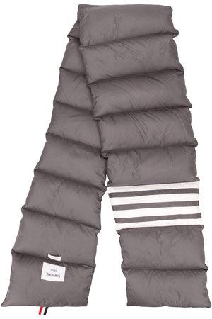 Thom Browne Down-filled 4-Bar scarf