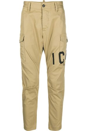 Dsquared2 Men Cargo Trousers - Logo-print cropped cargo trousers