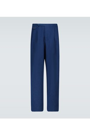 King and Tuckfield Double-pleated chino pants