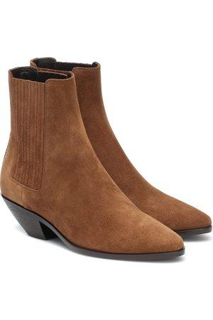 Saint Laurent West 45 suede ankle boots