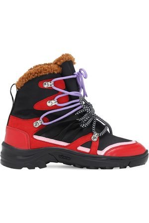 Stella McCartney Nylon Canvas & Faux Fur Boots