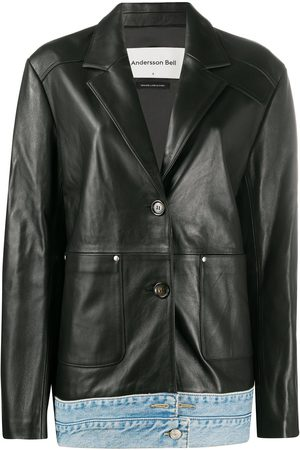 Andersson Bell Molly Denim Layered Leather Jacket