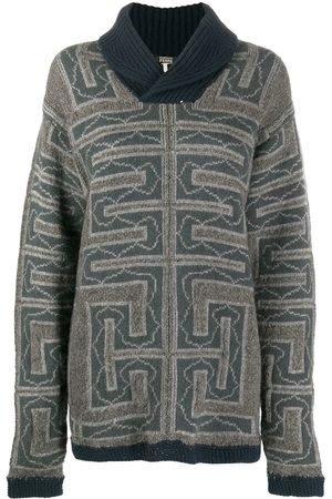 Gianfranco Ferré 2000s chunky knit geometric pattern jumper