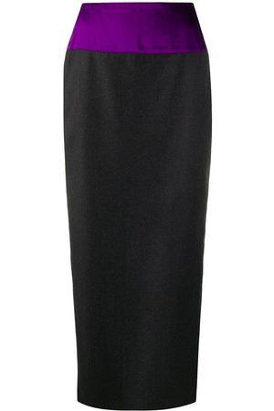 Gianfranco Ferré 1990s contrasting panel midi pencil skirt