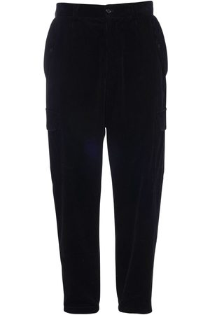 Dolce & Gabbana Men Cargo Trousers - 17cm Cotton Velvet Cargo Pants