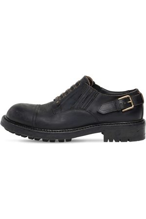 Dolce & Gabbana Men Footwear - 40mm Matte Leather Lace-up Shoes