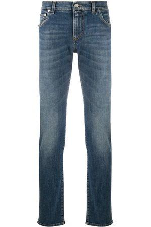 Dolce & Gabbana Men Slim - Logo plaque jeans
