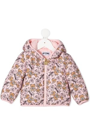 Moschino Jackets - All-over teddy print padded jacket