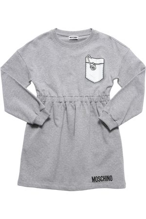 Moschino Pocket Cotton Sweat Dress