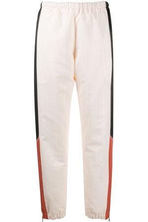 Marine Serre Contrast panel cuffed trousers