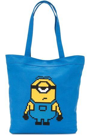 MOSTLY HEARD RARELY SEEN Minion print tote bag