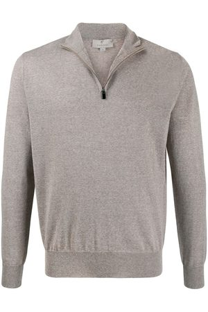 CANALI Men Jumpers - Zipped funnel-neck pullover