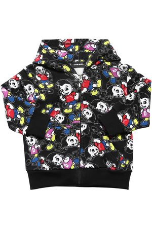 Diesel All Over Print Cotton Sweatshirt Hoodie