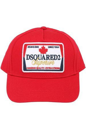 Dsquared2 Logo Patch Gabardine Baseball Hat