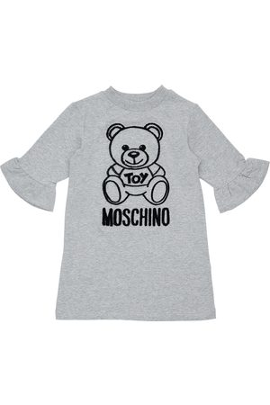 Moschino Girls Dresses - Flocked Toy Bear Cotton Sweat Dress